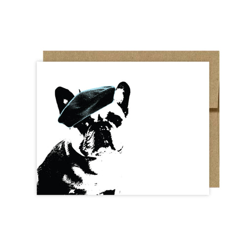 French Bull Dog-Black/White Note cards By U Lucky Girl