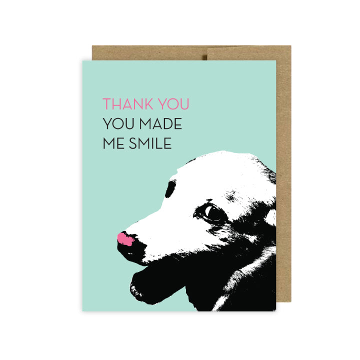 Funny Dog Greeting Cards Thank You Card U Lucky Girl