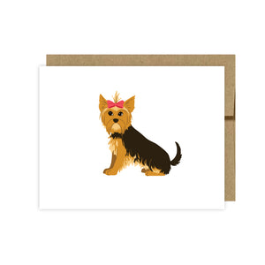 Yorkie Note Cards-Set of 10- By U Lucky Girl