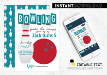 Bowling Ball Party Invitation
