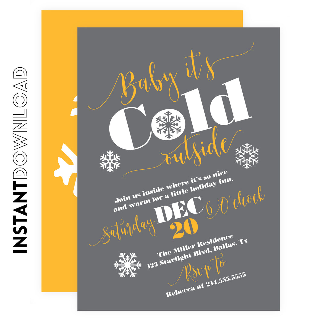 Baby it's Cold Outside Holiday Party Invitation