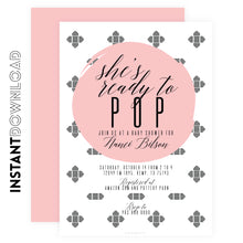 She's Ready to POP Girl shower Invitations