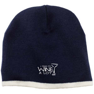 I Tend to Wine A Lot Acrylic Beanie