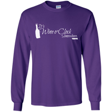 It's Wine o' Clock Somewhere Long Sleeved Cotton T-Shirt