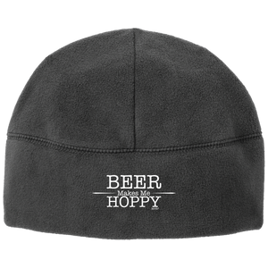Beer Makes Me Hoppy Fleece Beanie