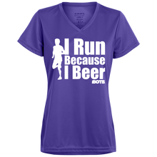 I Run Ladies' Wicking T-Shirt