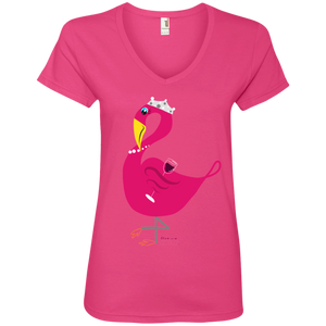 Princess Flossie Ladies' V-Neck T-Shirt