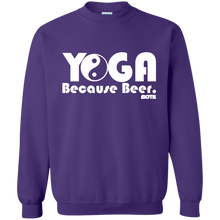 Yoga Because Beer - BOTB Sweatshirt