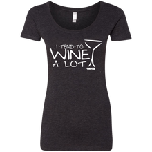 I Tend to Wine A Lot Ladies' Scoop Neck Tee