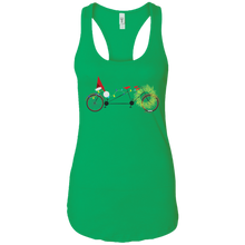 Christmas Bike Racerback Tank