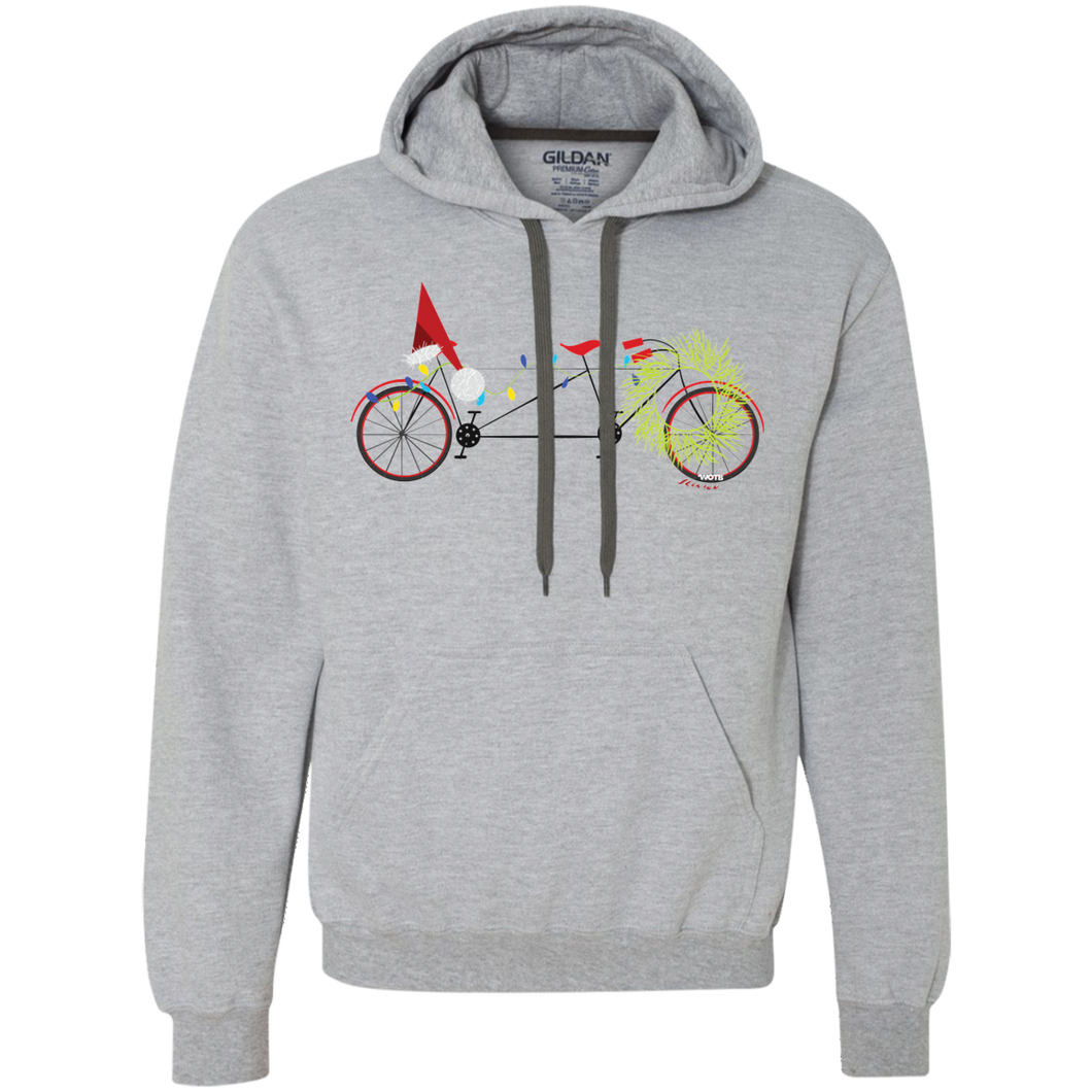 Christmas Bike Fleece Sweatshirt