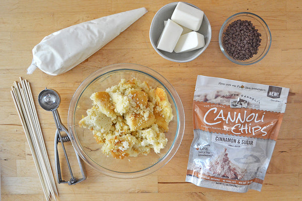 Ingredients for Cannoli Chip Cake Pops
