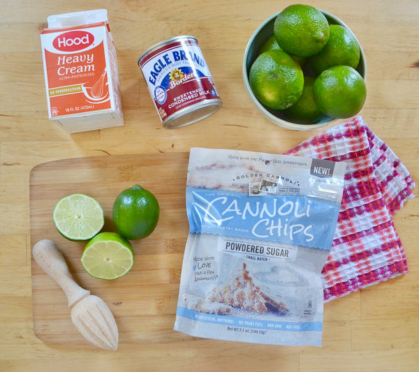 Ingredients for Original Cannoli Chip Key lime parfaits