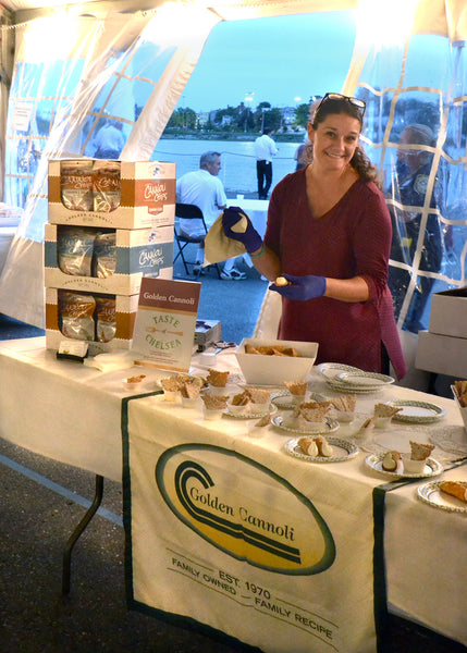 Maria Malloy serves up Golden Cannoli and Cannoli Chips and Dip at Taste of Chelsea 2018