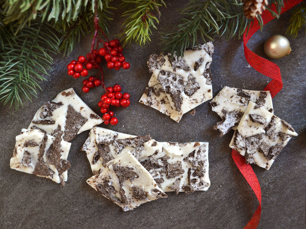 Cookies and Cream Cannoli Chip bark