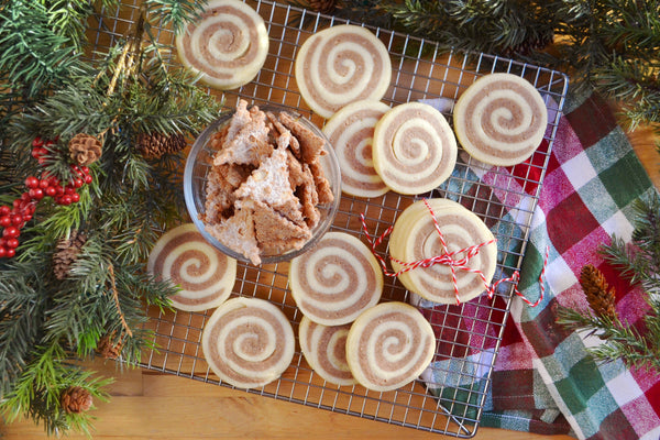 Cinnamon Sugar Cannoli Chip Pinwheel cookies