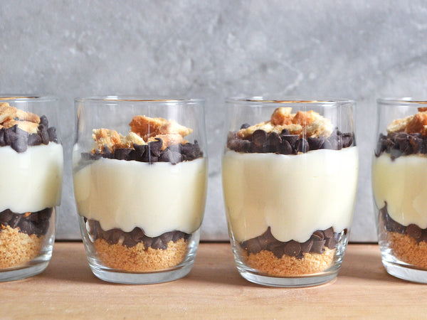 Cannoli parfaits from Golden Cannoli, wholesale cannoli shells, cannoli chips and cannoli filling for sale