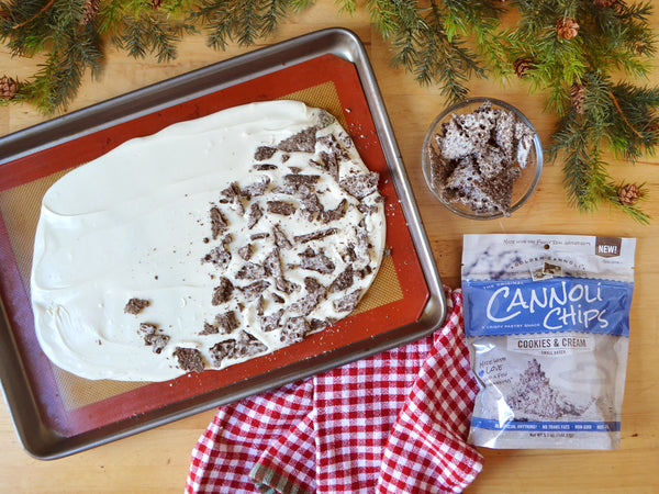 Original Cannoli Chips Recipe for Cookies and Cream bark