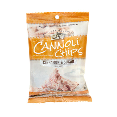 2oz Bag Cinnamon Sugar Cannoli Chips - 10 count case