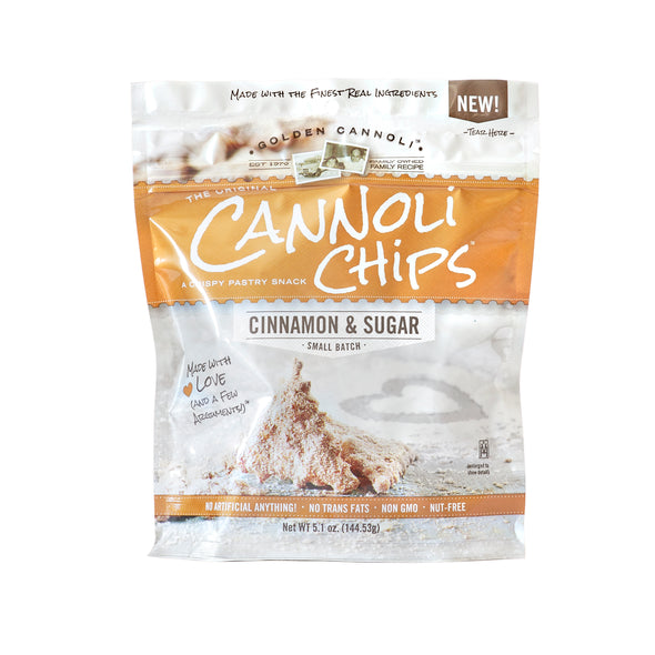 Cinnamon Sugar Cannoli Chips