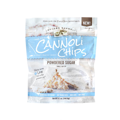 Powdered Sugar Cannoli Chips