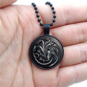 Game of Thrones 2mm Black Pendant and Necklace