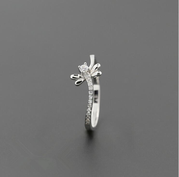 Pure 925 Sterling Silver Dragonfly Ring