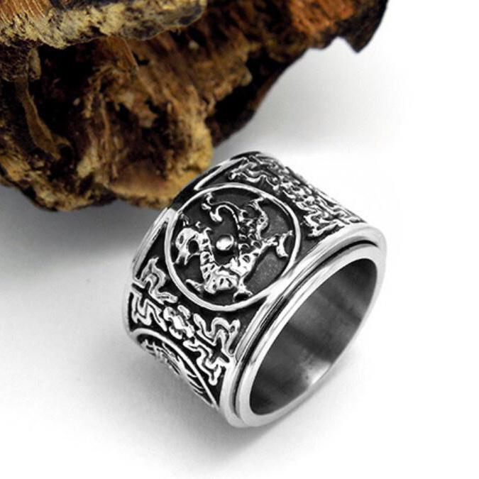 Ancient Dragon Stainless Steel Ring