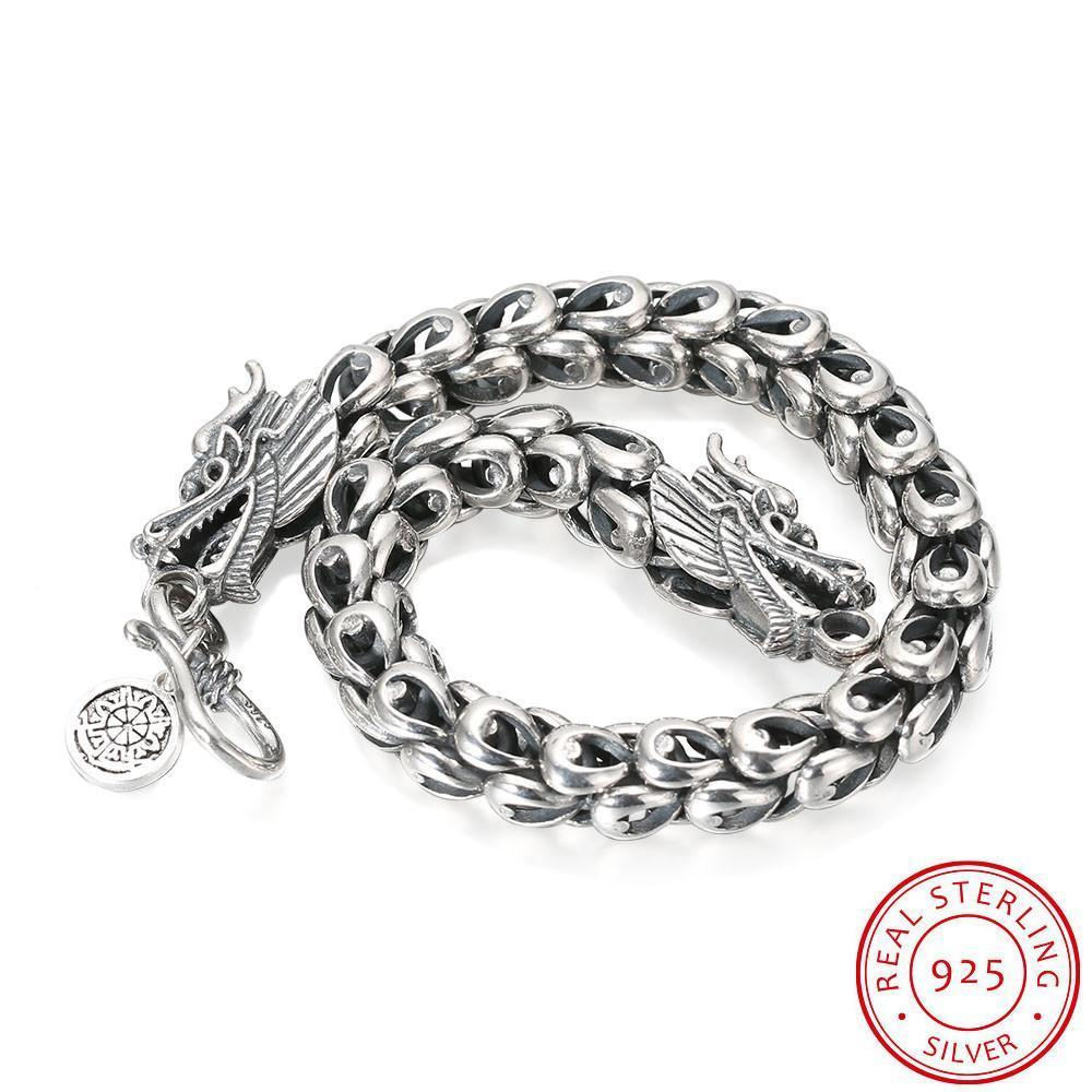 Domineering Dragon Thai Silver Bracelet