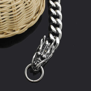 Clasp of the Dragon Stainless Steel Bracelet