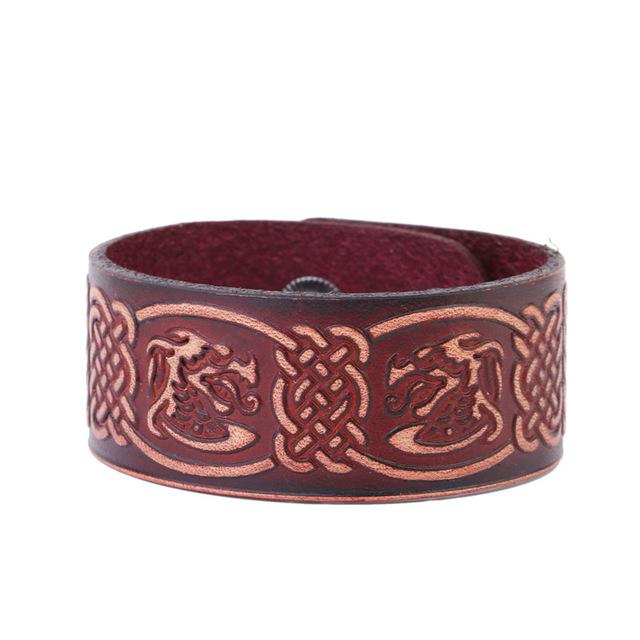 Leather Symmetrical Dragon Bracelet