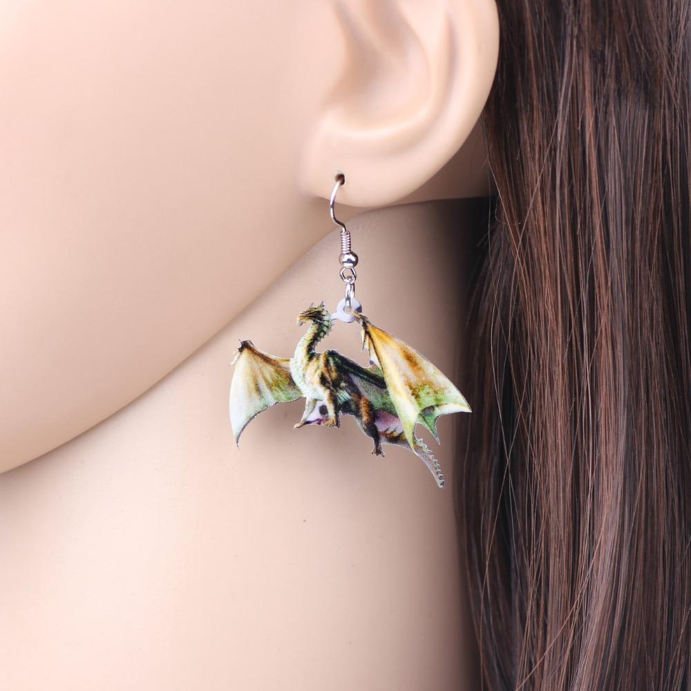 Drop Dangle Dragon Earring