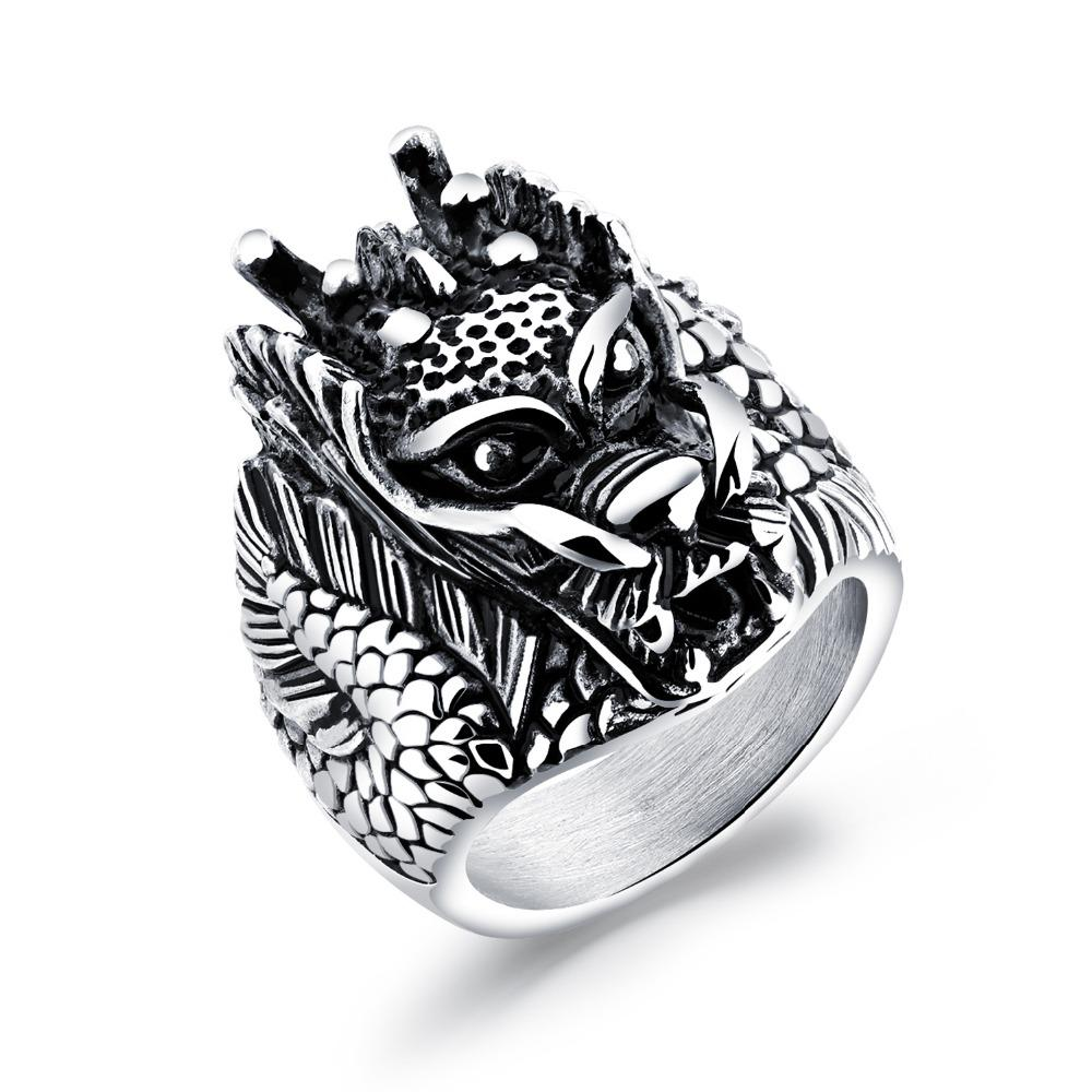 Dragon Head Ring Stainless Steel