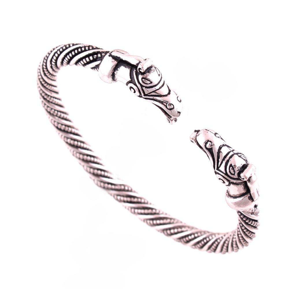 Ancient Viking Dragon Bangle Bracelet
