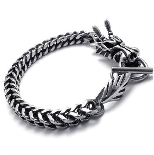 Titanium Stainless Steel Dragon Bracelet