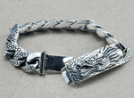 main 100% Pure 925 Silver Dragon Head Bracelet