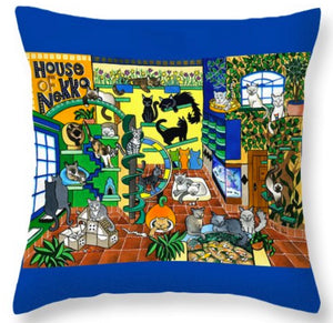 House Of Nekko Throw Pillow