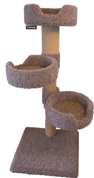 Hybernest Triplex Cat Tower w/(3) Cat Bed
