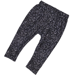 6-9 Black Glitter Leggings - RTS