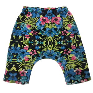 Tropical Floral Harem Shorts