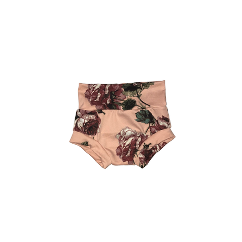 Dusty Rose Floral Bummies