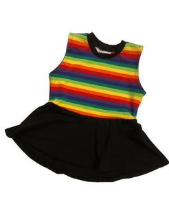 Rainbow skater peplum top 3T