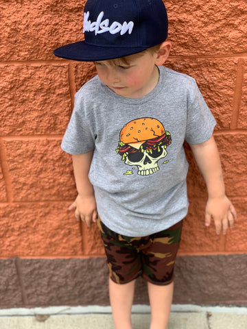Burger Skull Tee (Toddler, Youth & Women's)