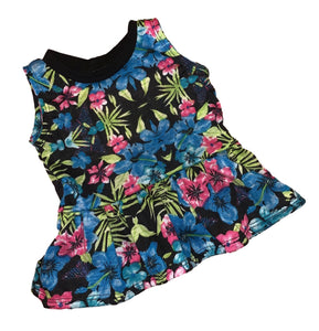 Tropical Sleeveless Peplum