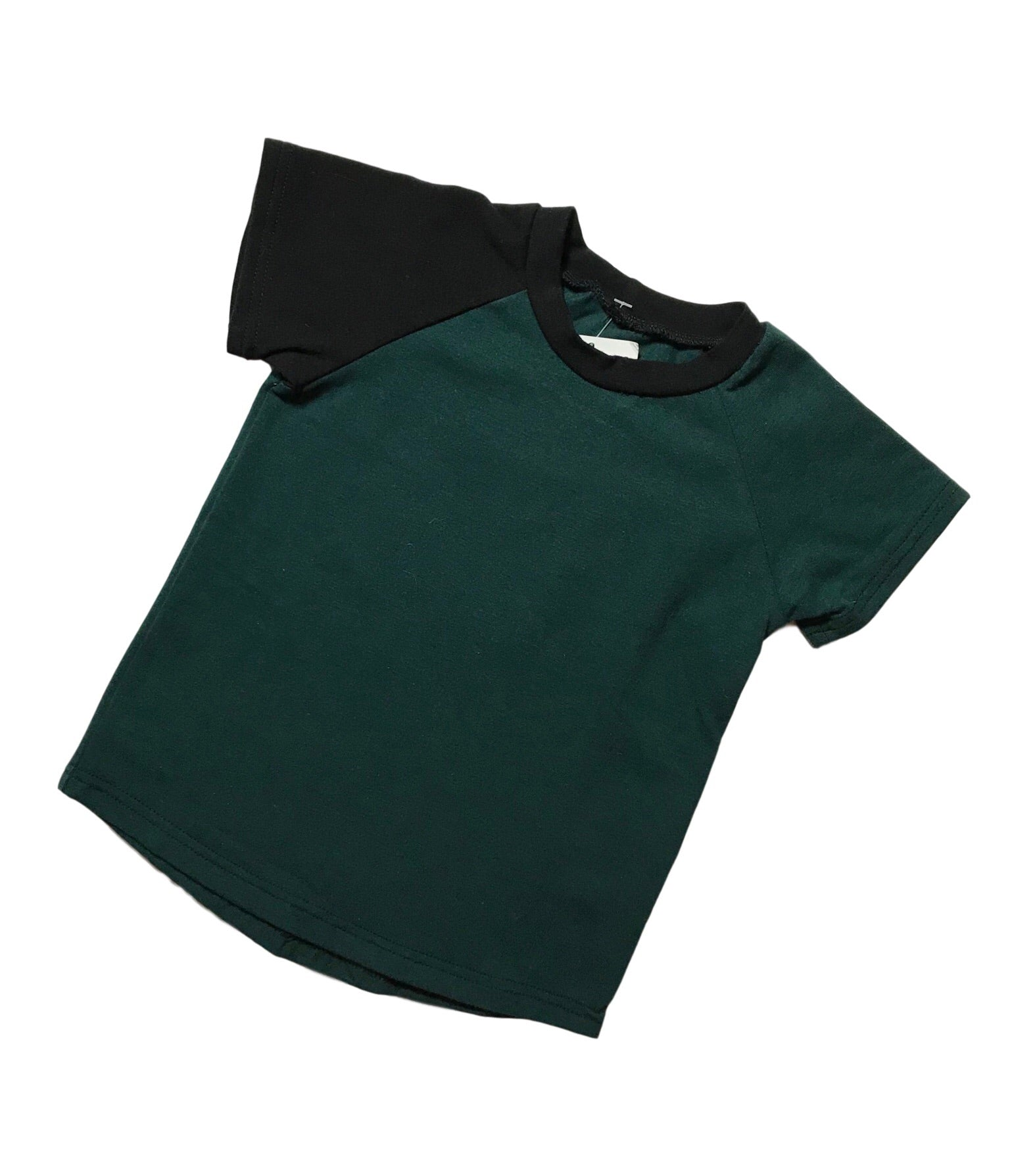 Basic Solid Raglan - Evergreen