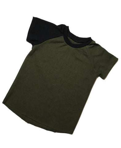 Basic Solid Raglan - Dark Olive