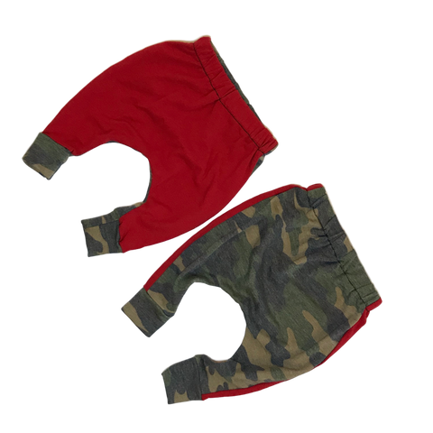 Red & Camo Super Skinny Harems - RTS