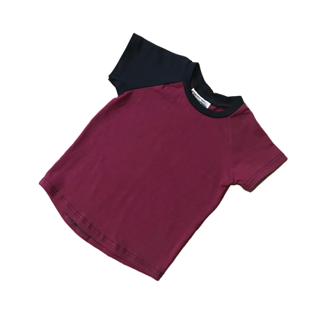 Basic Solid Raglan - Burgundy