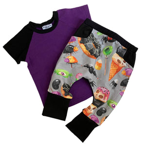 Bundle - Pocket Halloween Treats Harems &  Purple Raglan
