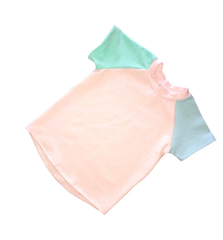 Pastel Color Block Tees - Blush, Mint, & Baby Blue